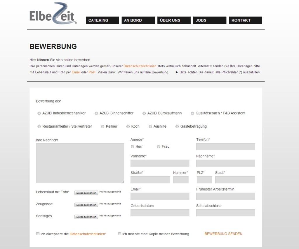 bewerbungsformular der Elbezeit