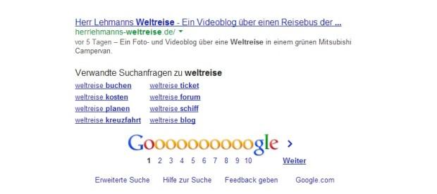 Herrlehmann erreicht Platz 10 bei Google