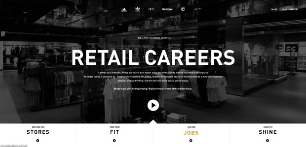 Link zur Website von Adidas Retail Jobs