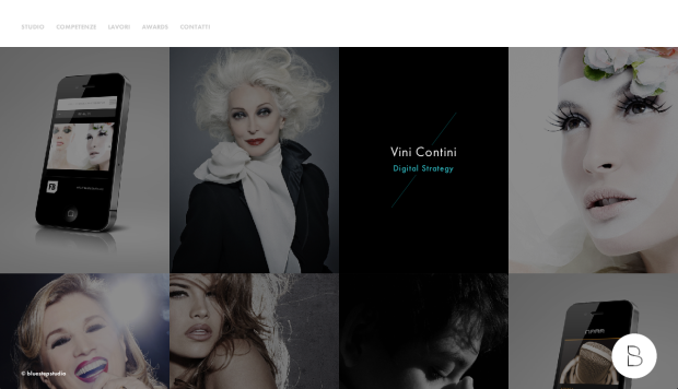 Screenshot der Website Bluestepstudio