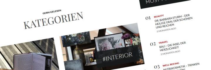 Teaserbild für meine Referenzarbeit des Parfum und Beauty Magazins